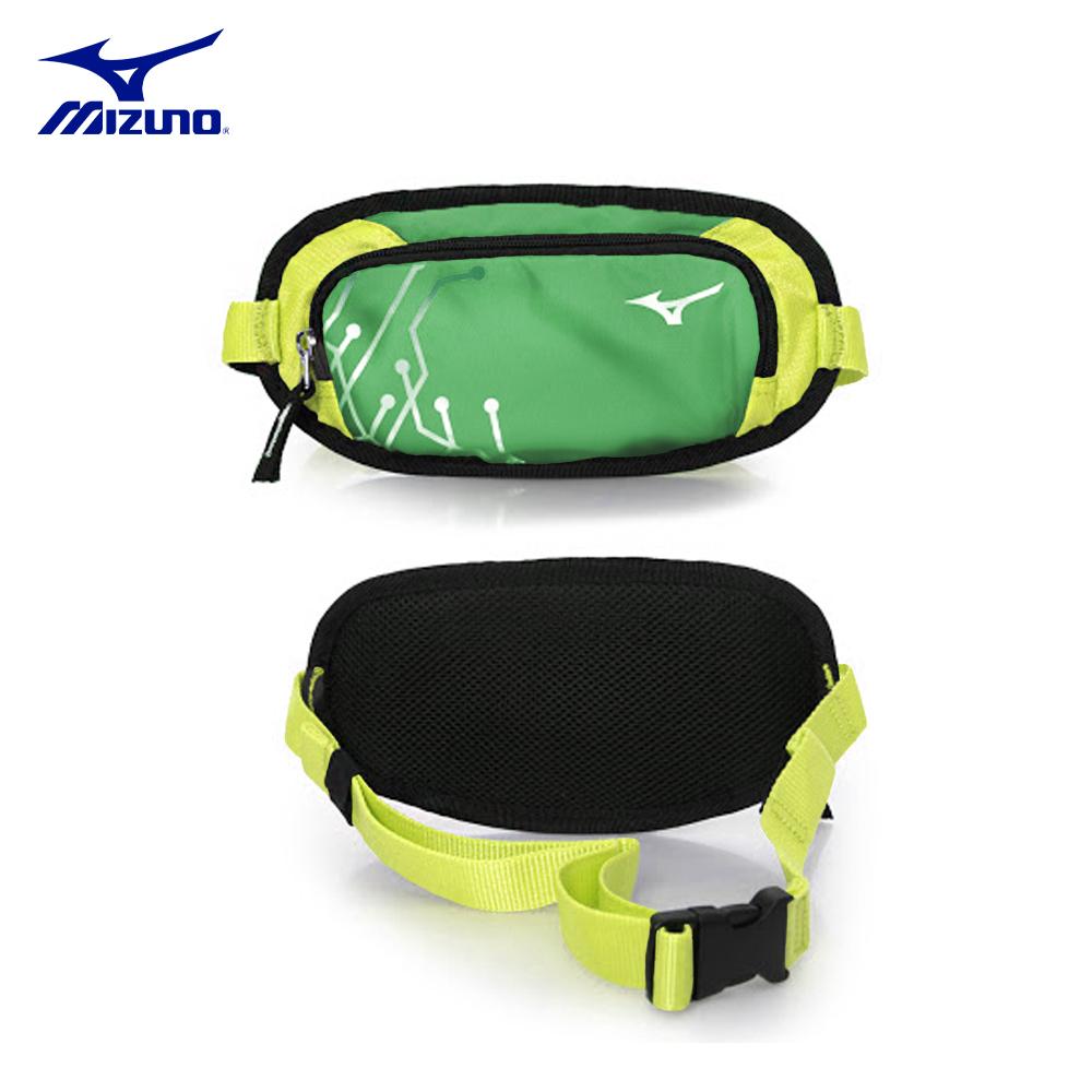 【MIZUNO】美津濃-輕量慢跑腰包-綠