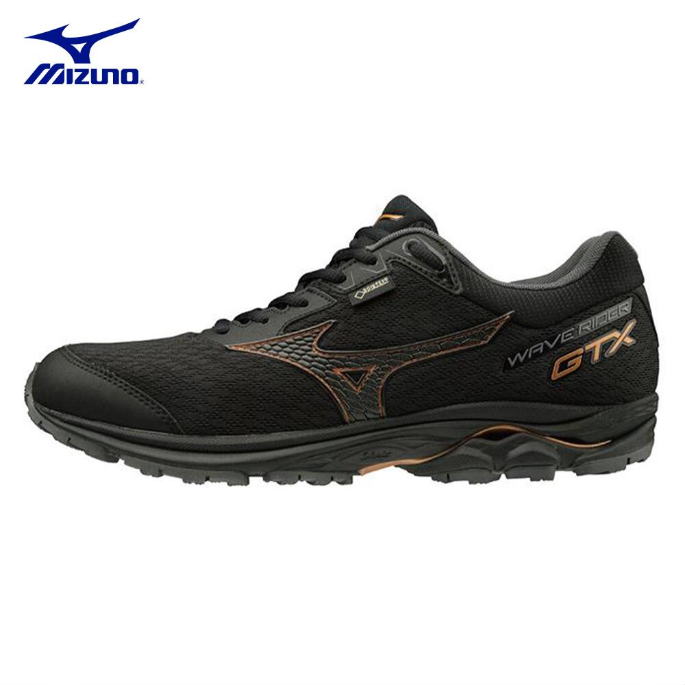 【MIZUNO】美津濃-WAVE RIDER 22 GTX男子慢跑鞋-黑