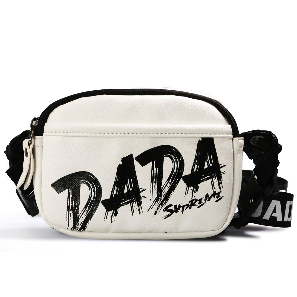 【DADA】街頭玩色潮流挎包-白