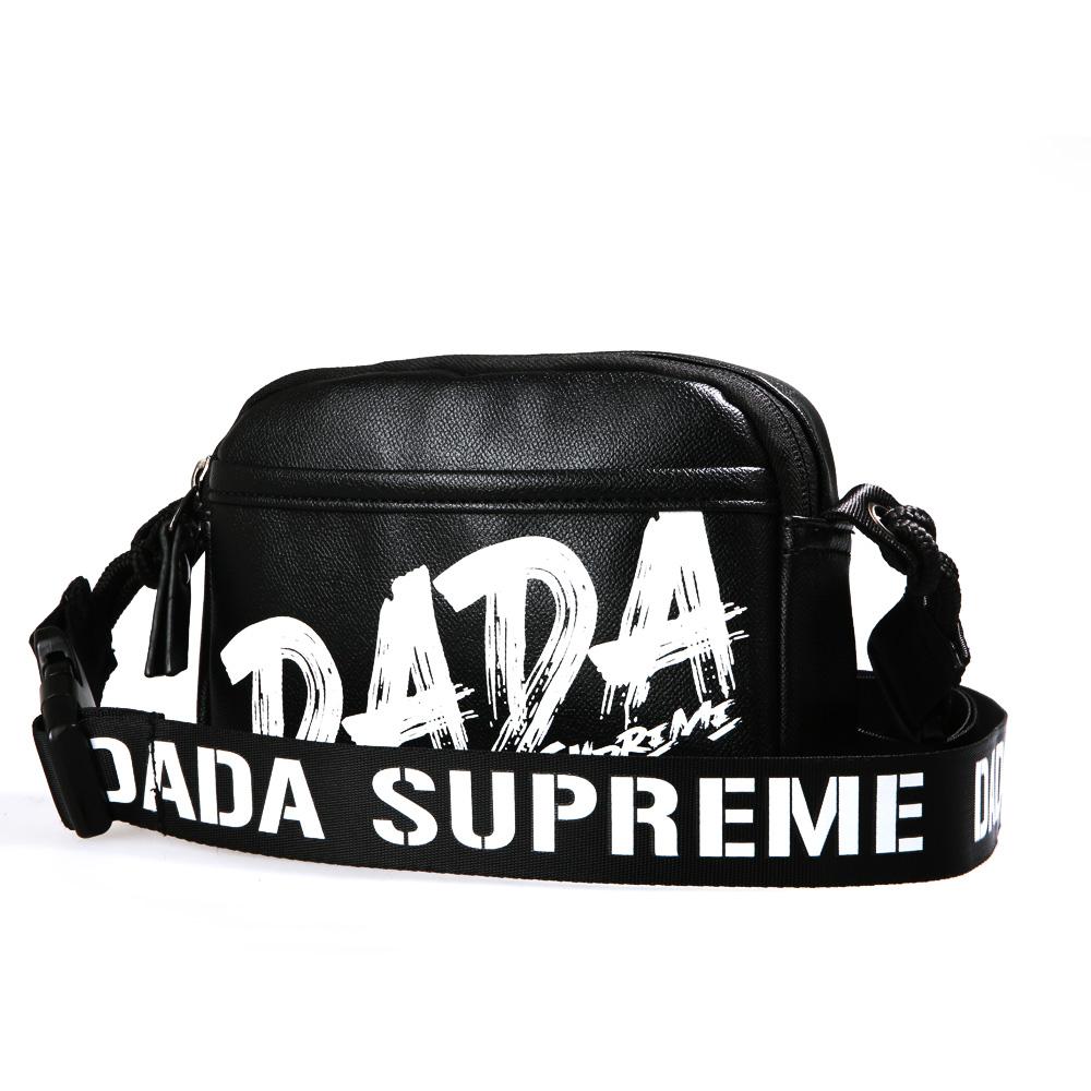 【DADA】街頭玩色潮流挎包-黑