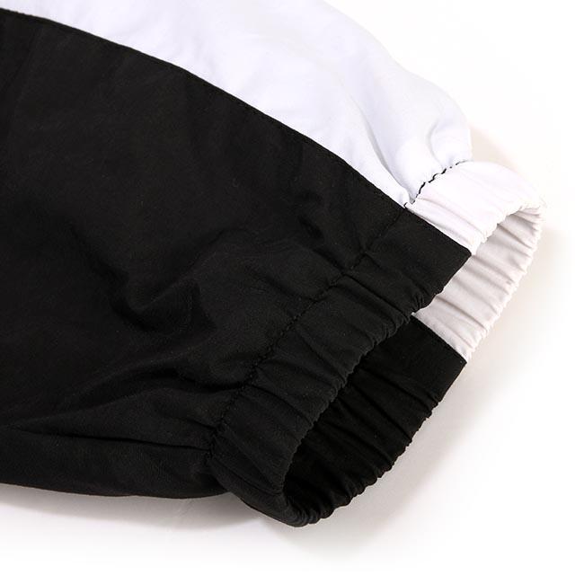 【DADA】男子拼接連帽防風外套-黑白