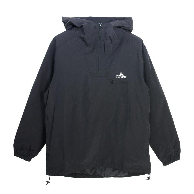 【DADA】男子側邊LOGO長袖連帽拉鍊風衣-經典黑