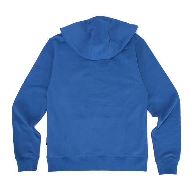 【DADA】男子內刷毛電繡微立體Logo連帽長T-藍
