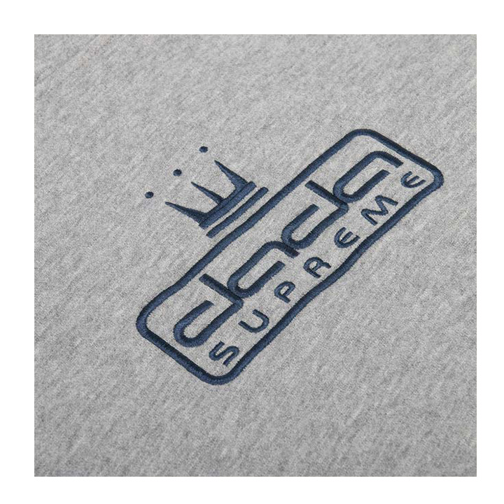 【DADA】男子內刷毛電繡微立體Logo連帽長T-灰
