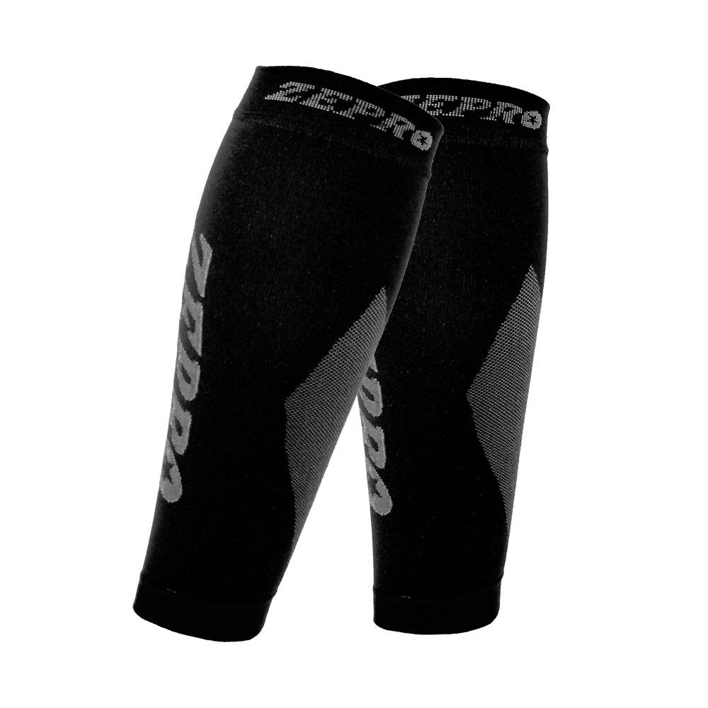 【ZEPRO】男女機能壓縮運動小腿套-黑