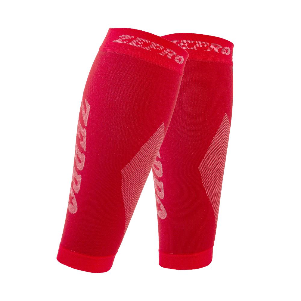 【ZEPRO】男女機能壓縮運動小腿套-豔紅