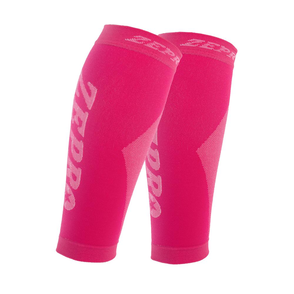 【ZEPRO】男女機能壓縮運動小腿套-桃紅