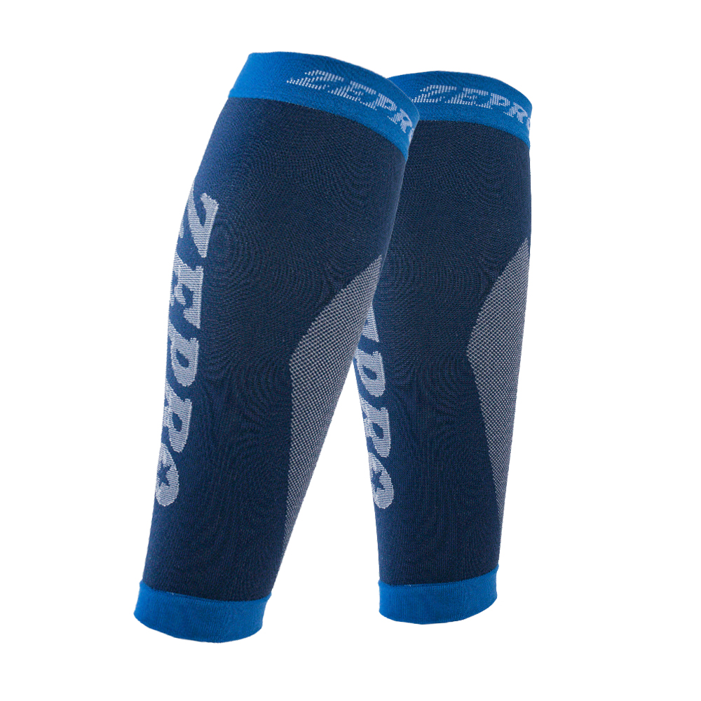 【ZEPRO】男女機能壓縮運動小腿套-湛藍