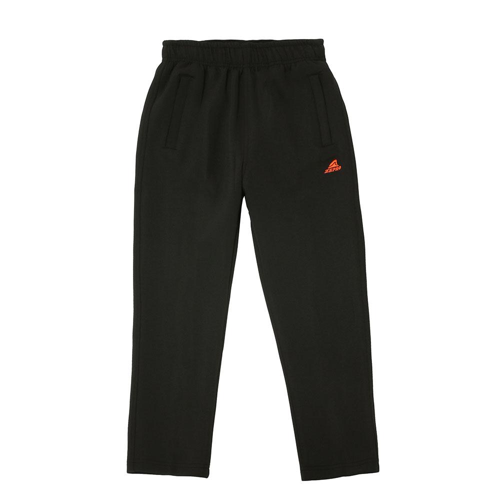 【ZEPRO】兒童雙拉鍊休閒長褲-經典黑