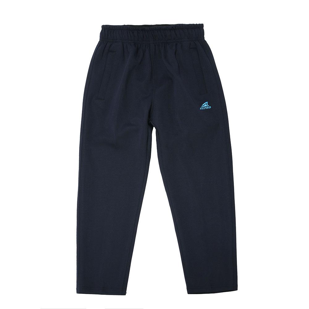 【ZEPRO】兒童雙拉鍊休閒長褲-深海藍