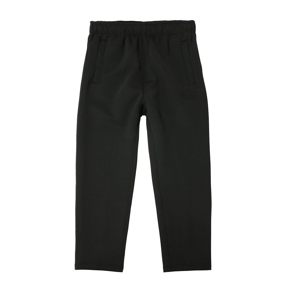 【ZEPRO】兒童百搭休閒刷毛長褲-經典黑