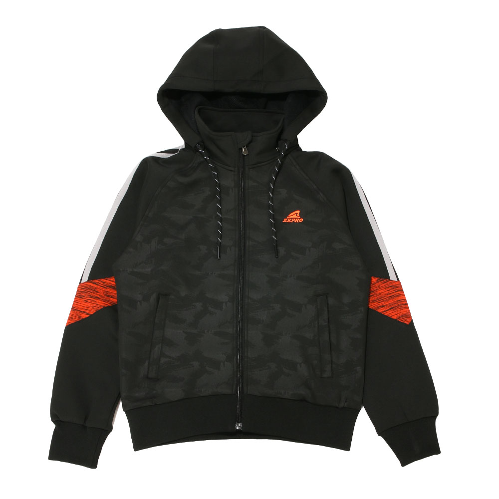 【ZEPRO】兒童雙色拼接休閒外套-黑紅