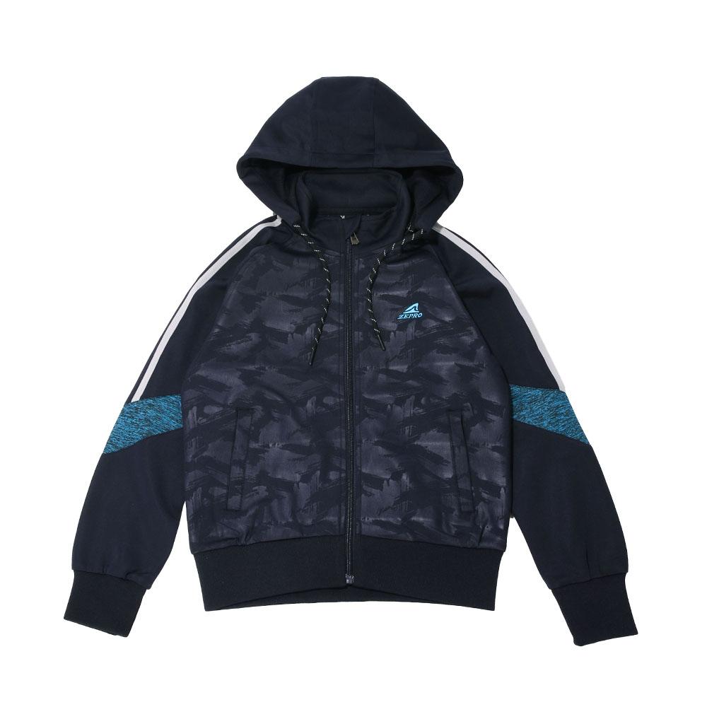 【ZEPRO】兒童雙色拼接休閒外套-深海藍