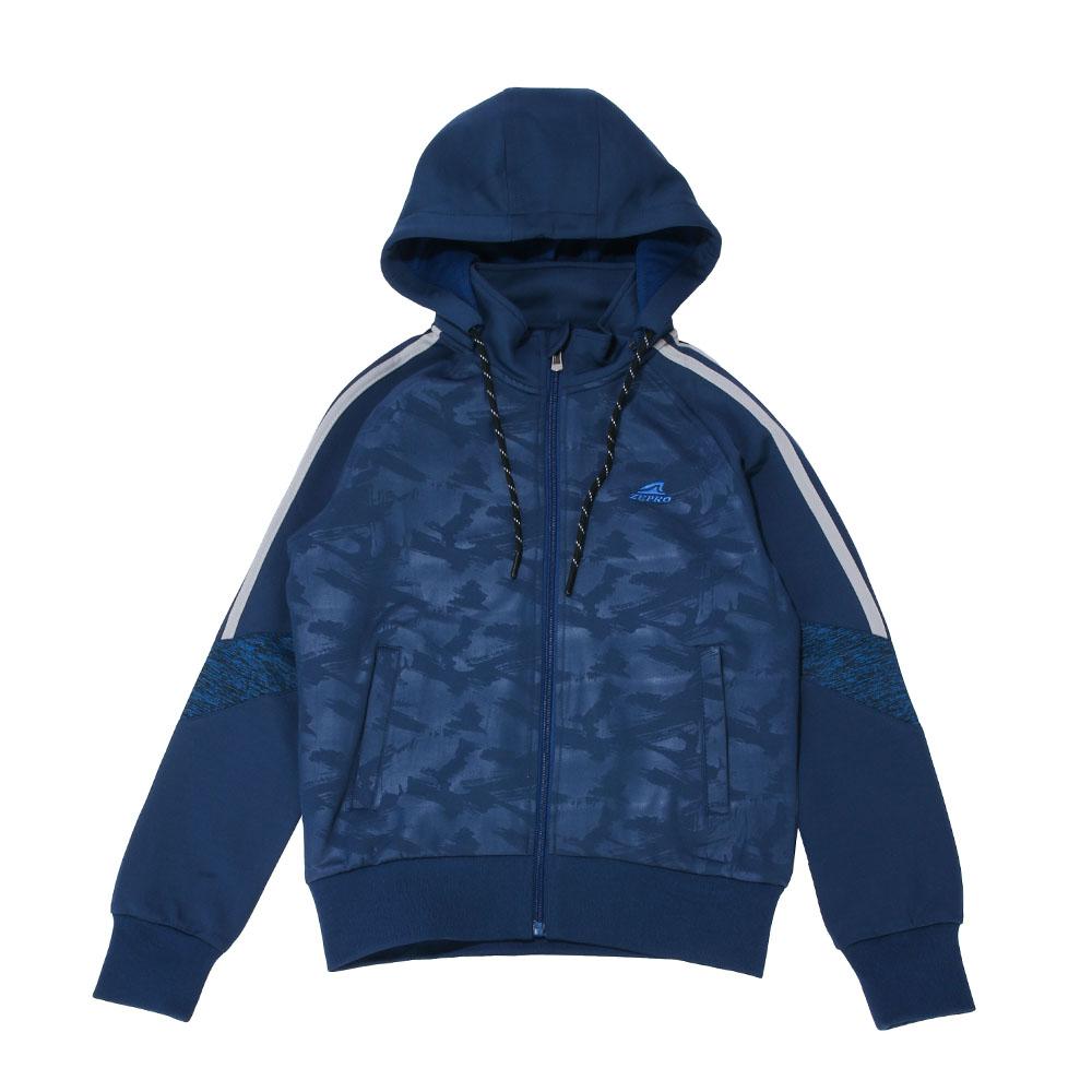 【ZEPRO】兒童雙色拼接休閒外套-時尚藍