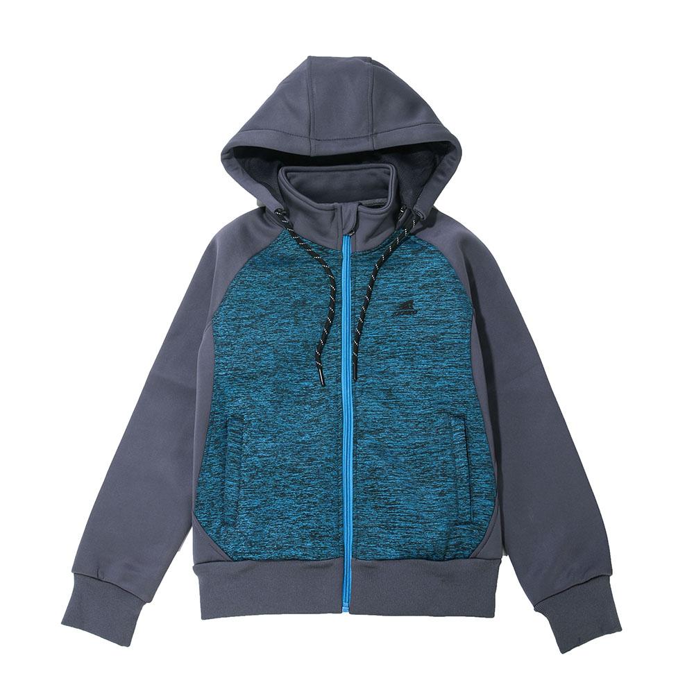 【ZEPRO】兒童撞色休閒刷毛外套-藍綠