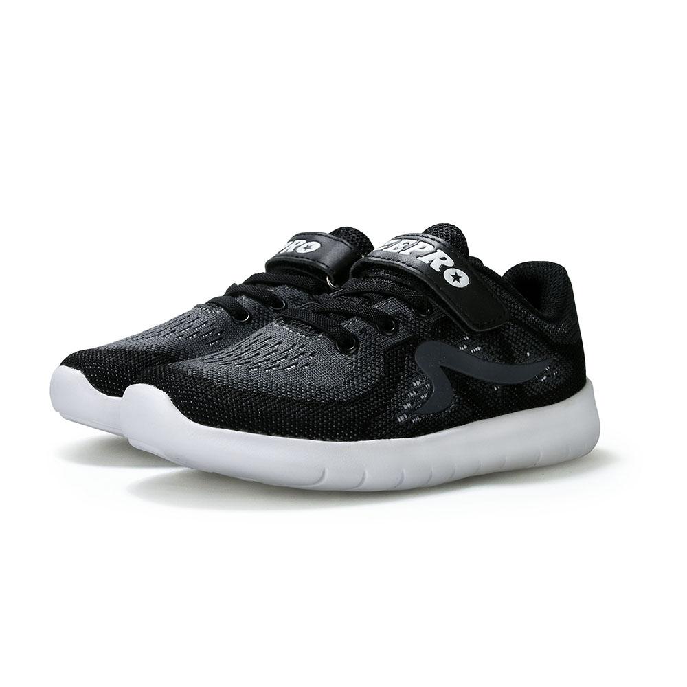 【ZEPRO】RUNSTAR動感潮童舒適減震運動鞋(大童)-黑
