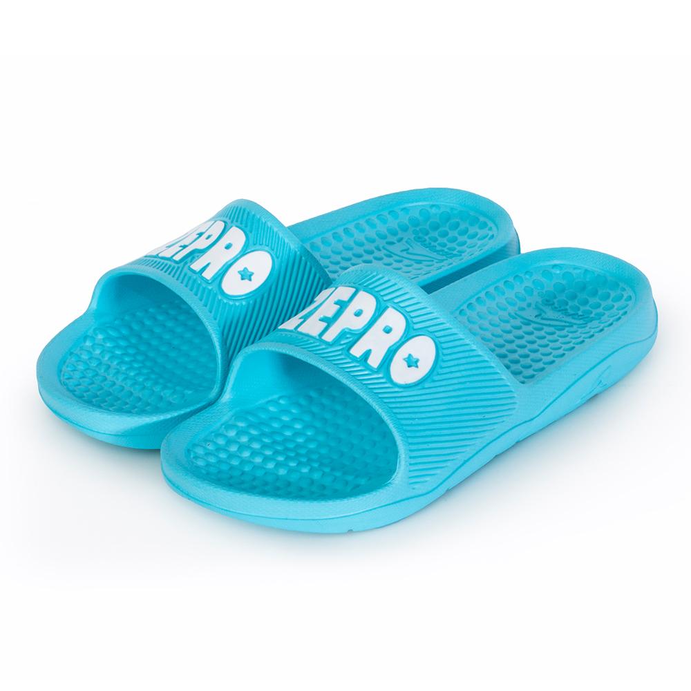 【ZEPRO】男女款休閒拖鞋-LIGHT系列-湖藍