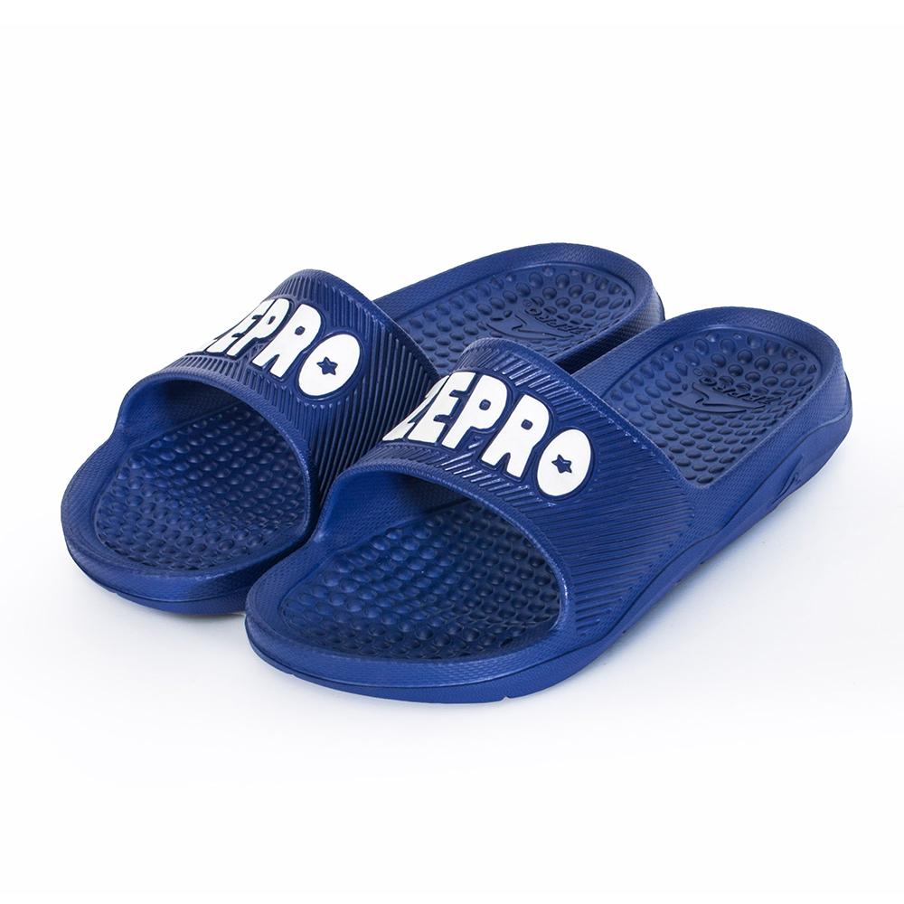 【ZEPRO】男女款休閒拖鞋-LIGHT系列-深藍