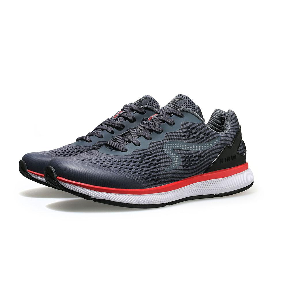 【ZEPRO】男子KIRIN系列減震耐磨運動跑鞋-鋼鐵灰