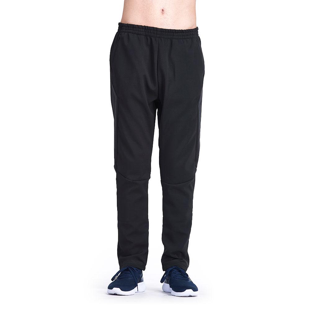 【ZEPRO】男子側邊反光防風運動長褲-黑