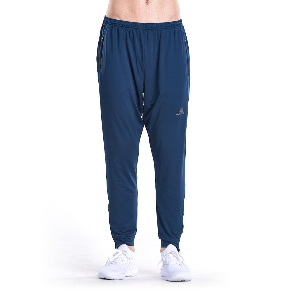 【ZEPRO】男子多功能九分薄運動褲-藍