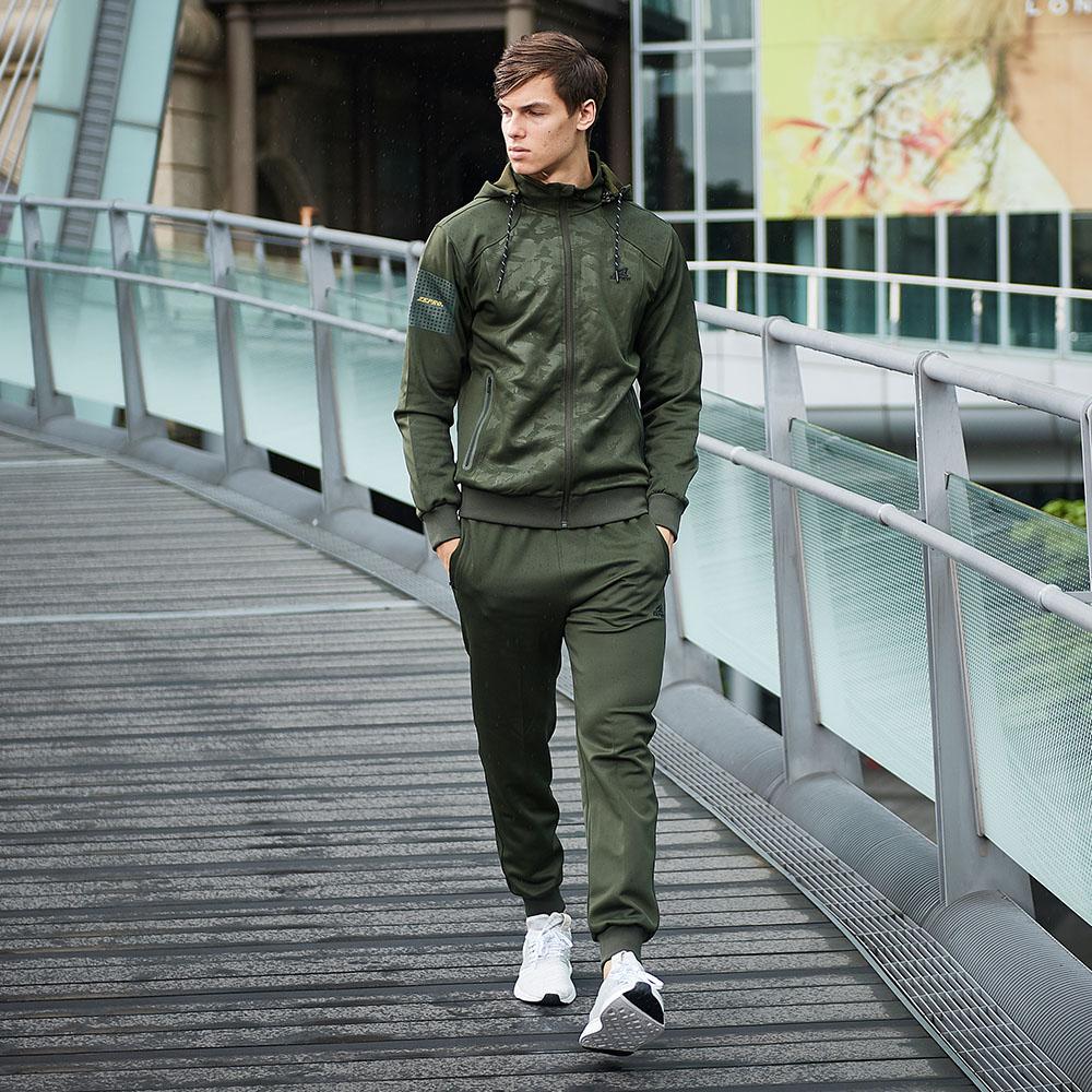 【ZEPRO】男子率性縮口休閒長褲-軍綠色