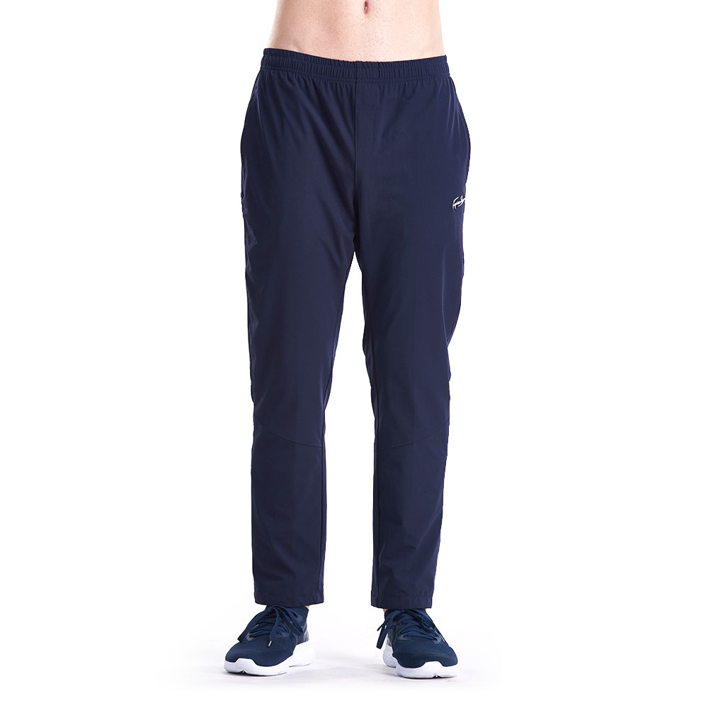 【ZEPRO】男子LOGO素面防風運動褲-深藍