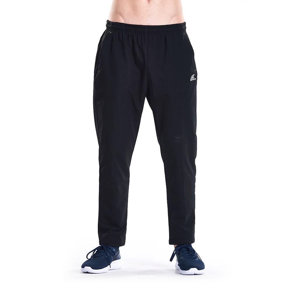 【ZEPRO】男子簡約防風運動褲-黑