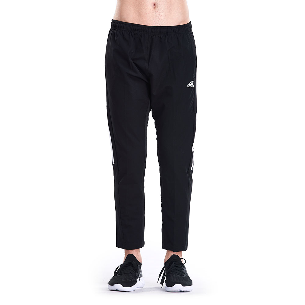 【ZEPRO】男子復古九分防風運動褲-黑白