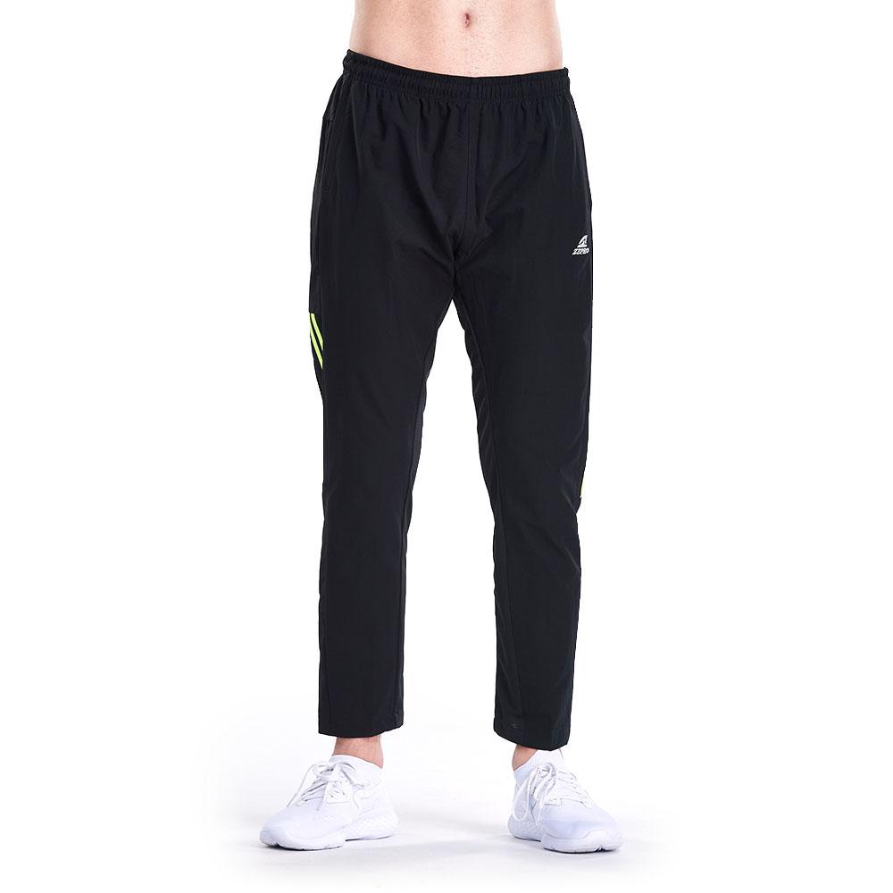 【ZEPRO】男子復古九分防風運動褲-黑螢光綠