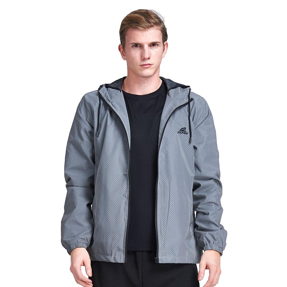 【ZEPRO】男子全反光防風外套-灰色