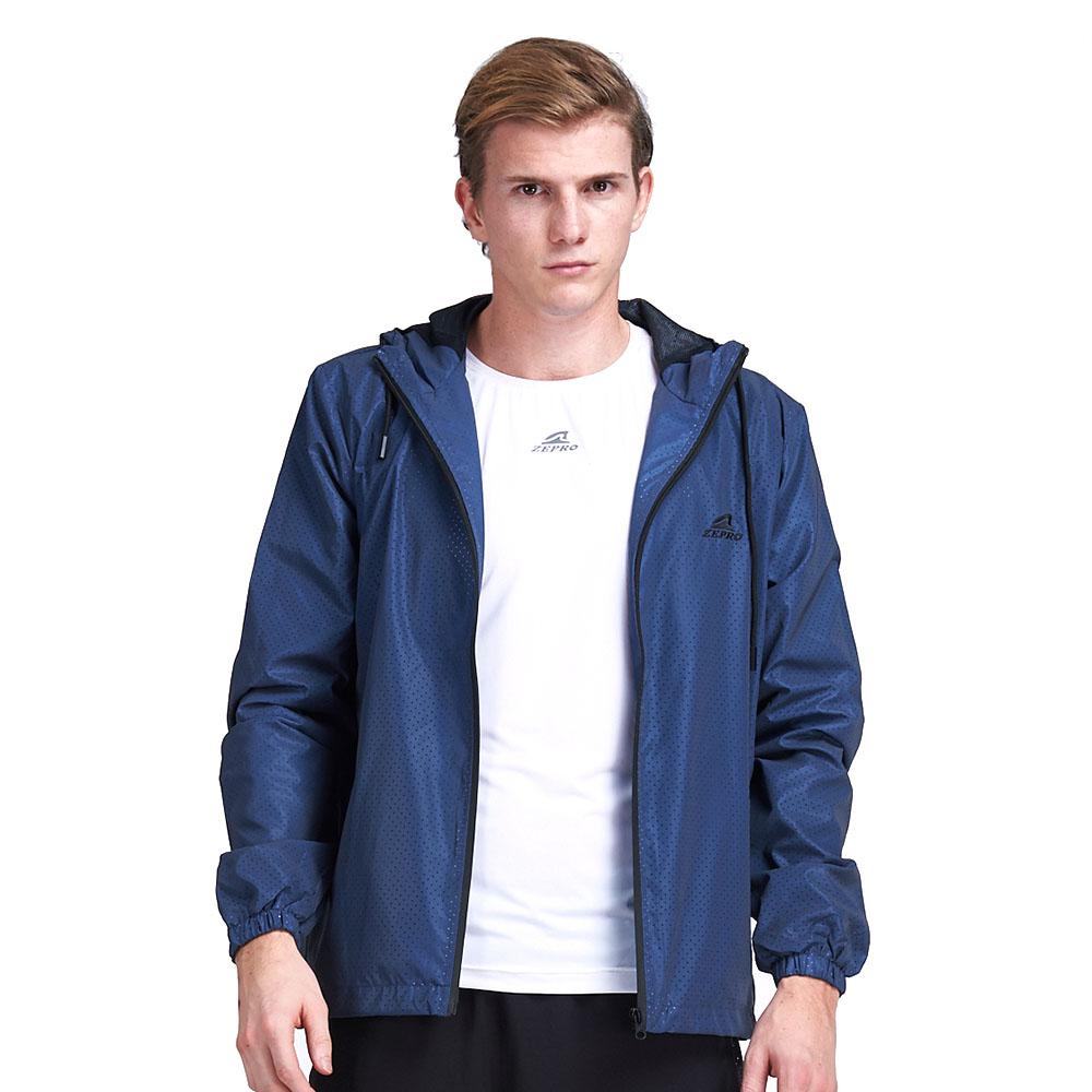 【ZEPRO】男子全反光防風外套-深藍
