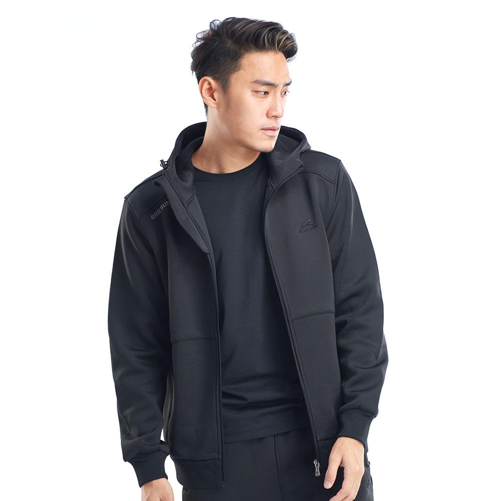 【ZEPRO】男子勁能速度刷毛休閒外套-黑