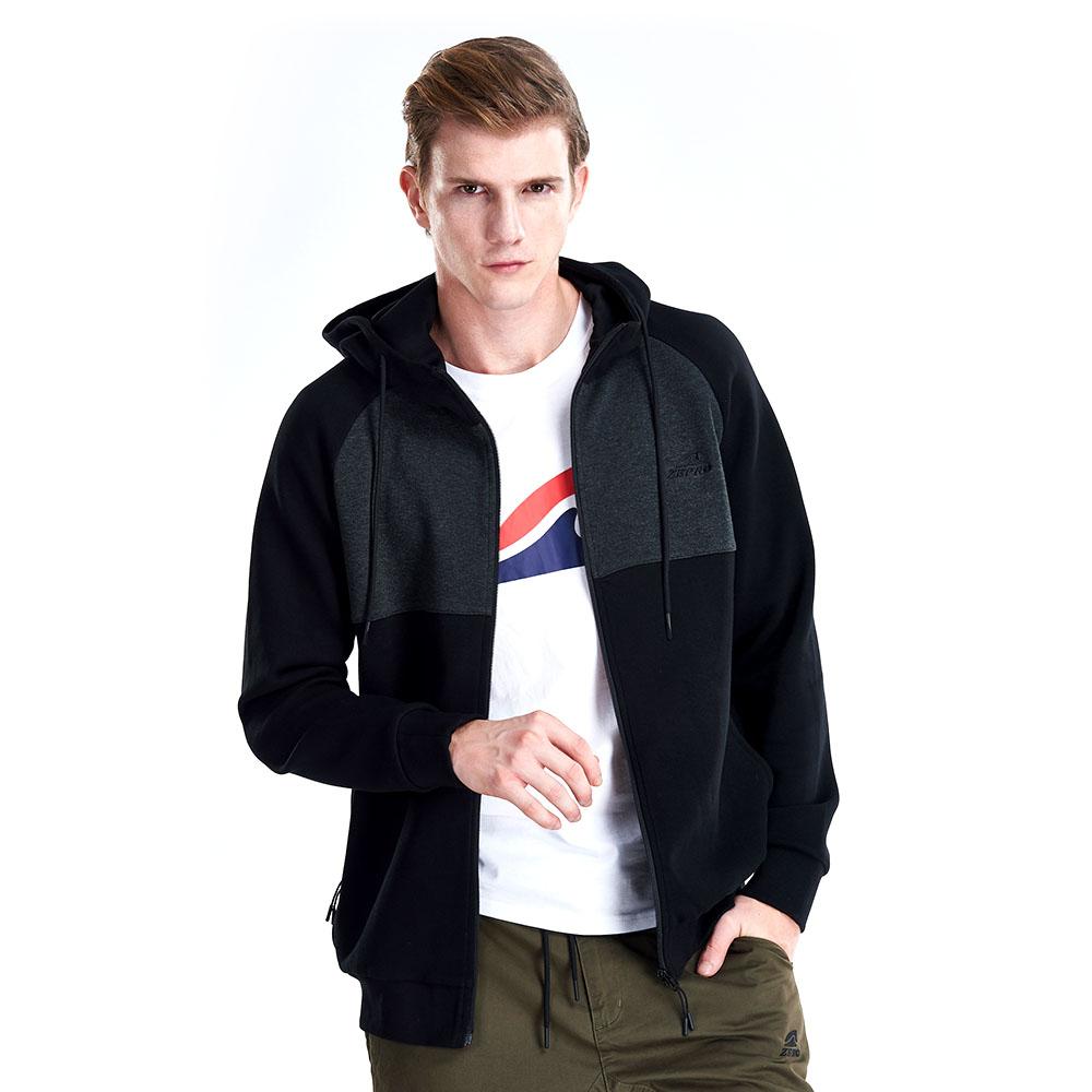 【ZEPRO】男子復古立領雙色休閒外套-灰黑