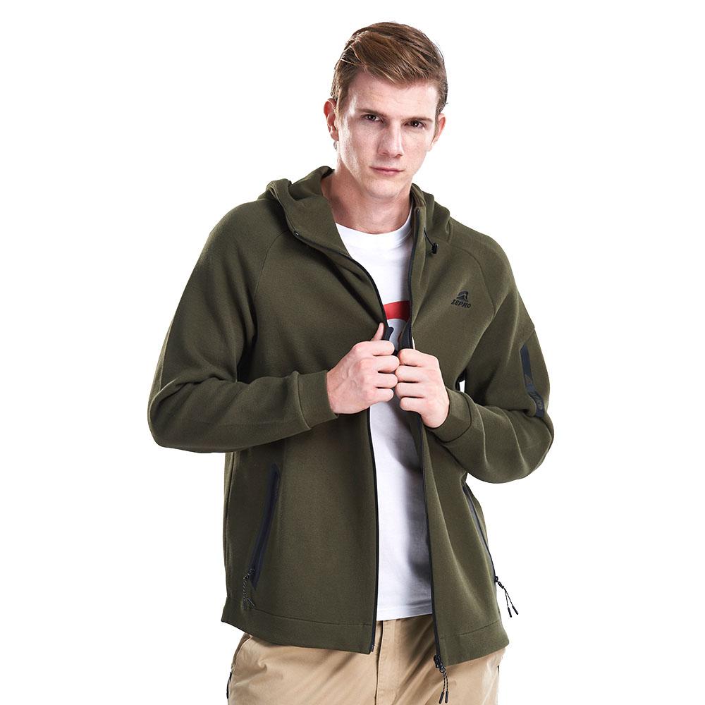【ZEPRO】男子側邊LOGO休閒外套-軍綠
