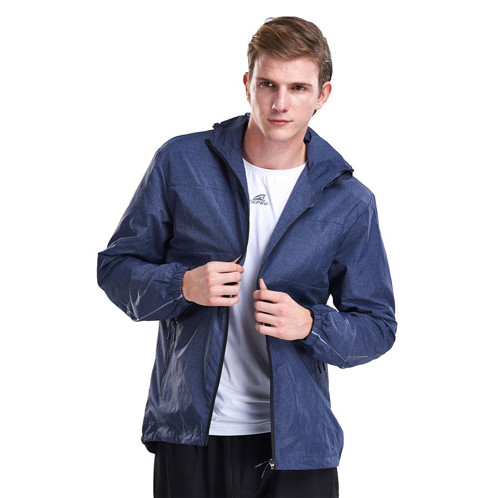 【ZEPRO】男子素面刷毛防風休閒外套-藍