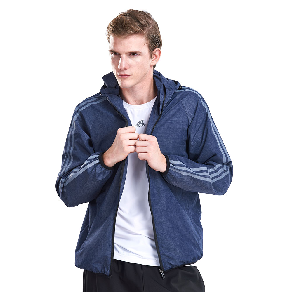 【ZEPRO】男子潮流主張防風外套-藍