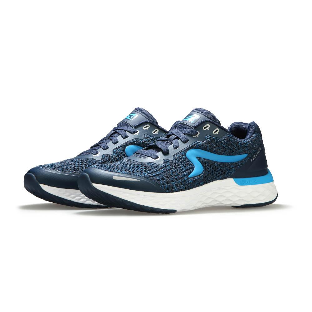 【ZEPRO】男子Q-RUN  FEELING系列氫氣槽科技慢跑鞋-勁藍