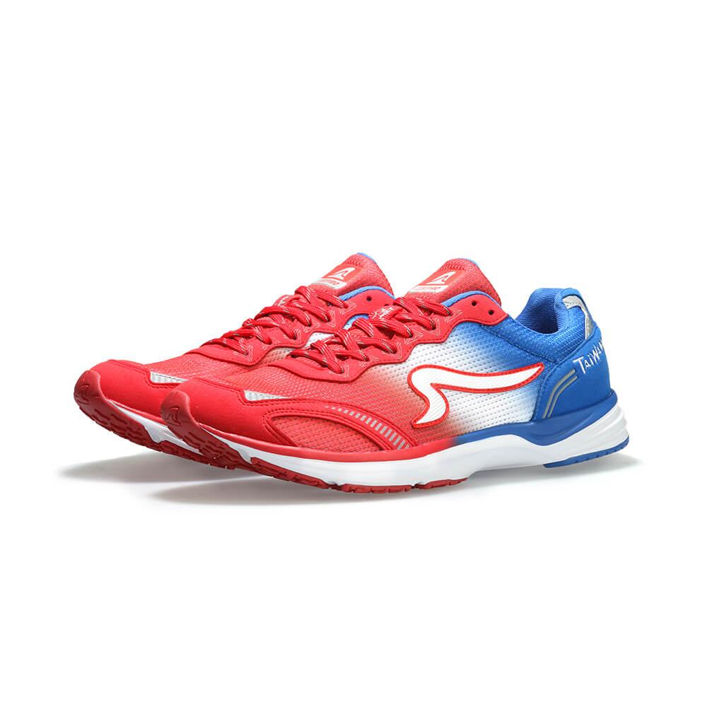 【ZEPRO】TAIWAN RUNNING 男子國旗競速路跑鞋-奔放紅