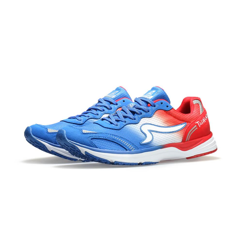 【ZEPRO】TAIWAN RUNNING 男子國旗競速路跑鞋-自由藍