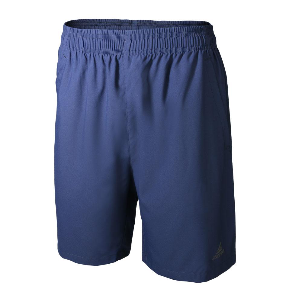 【ZEPRO】男子炫彩LOGO排汗運動短褲-深藍