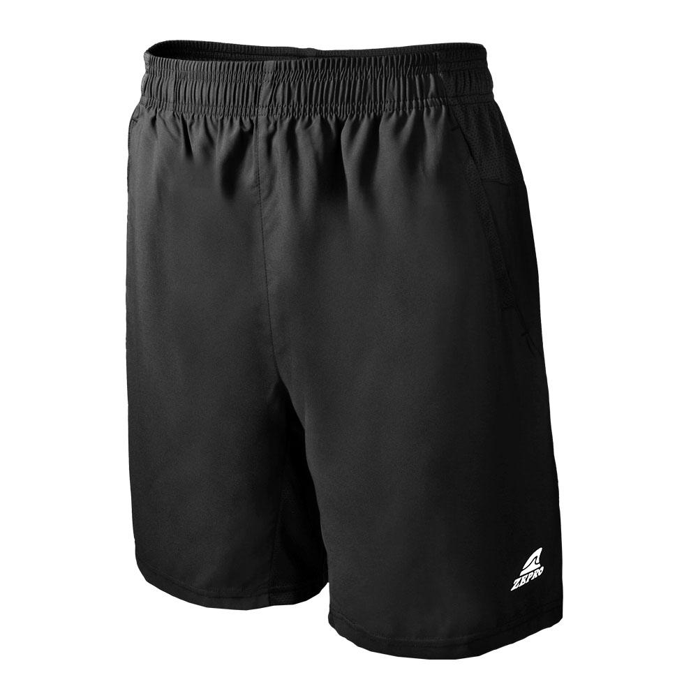 【ZEPRO】男子素色排汗運動短褲-黑