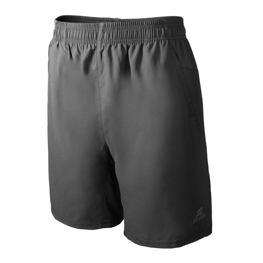 【ZEPRO】男子素色排汗運動短褲-深灰