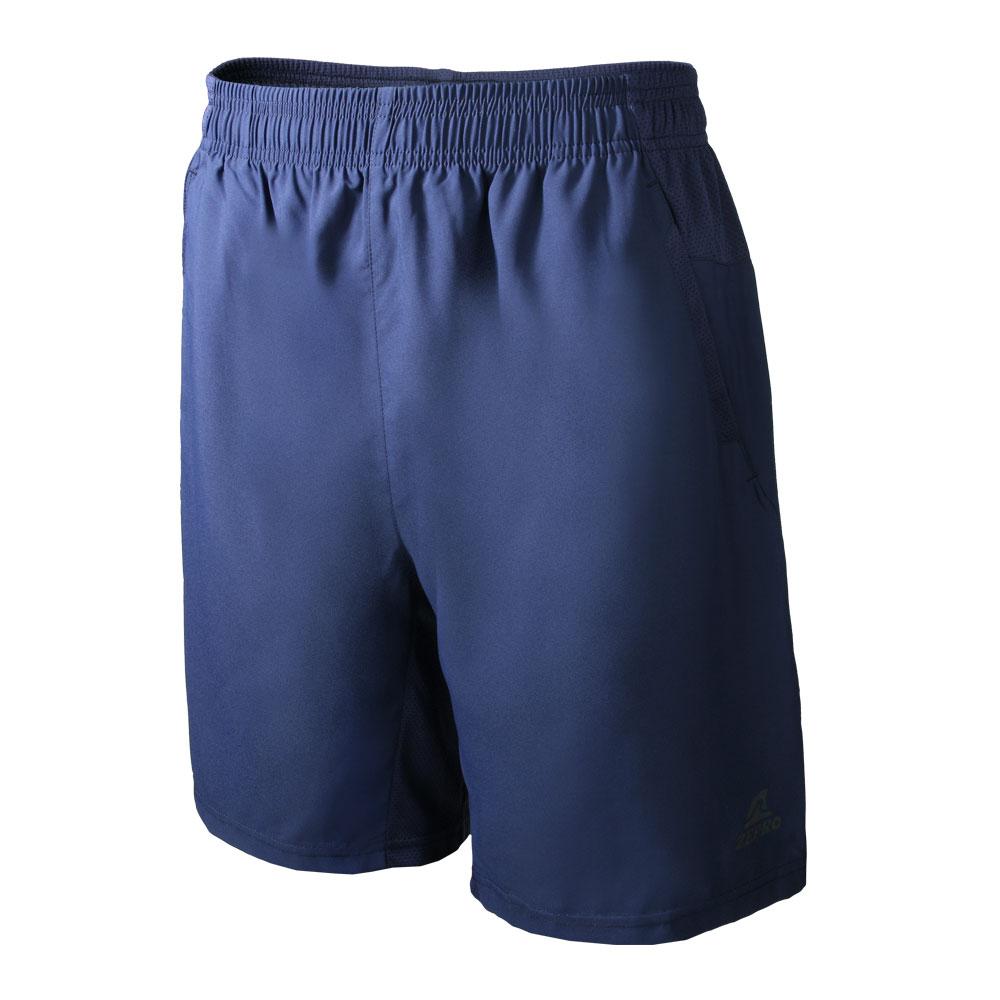 【ZEPRO】男子素色排汗運動短褲-深藍