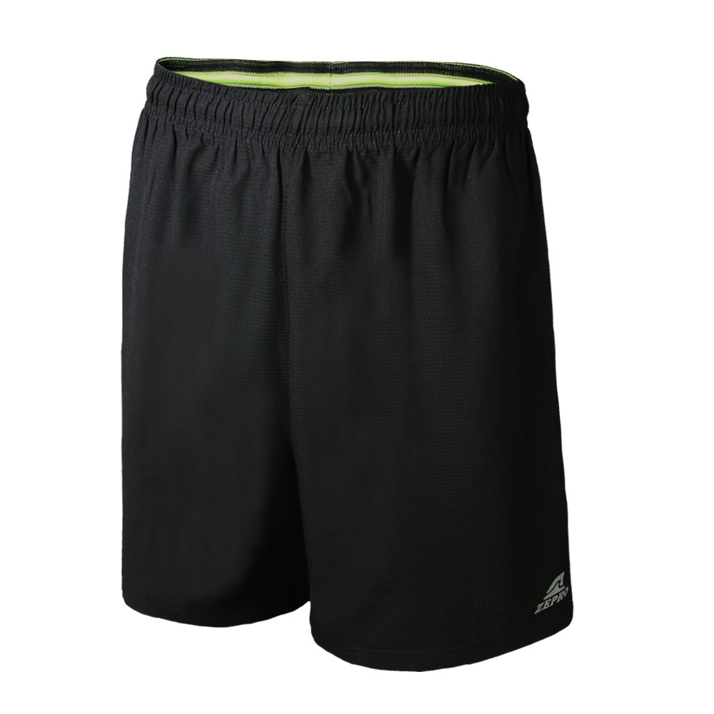 【ZEPRO】男子反光條排汗運動短褲-黑色