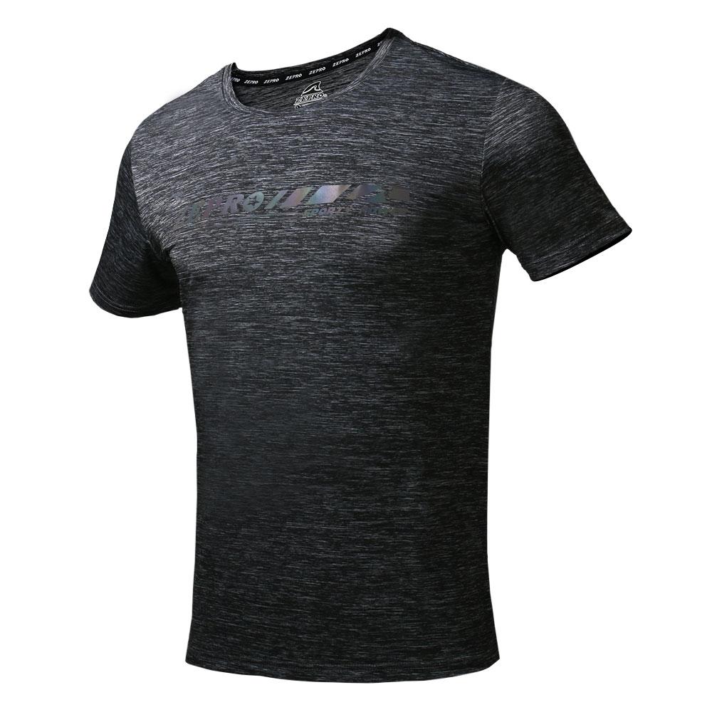 【ZEPRO】男子美式炫彩涼感運動短袖上衣-鐵灰