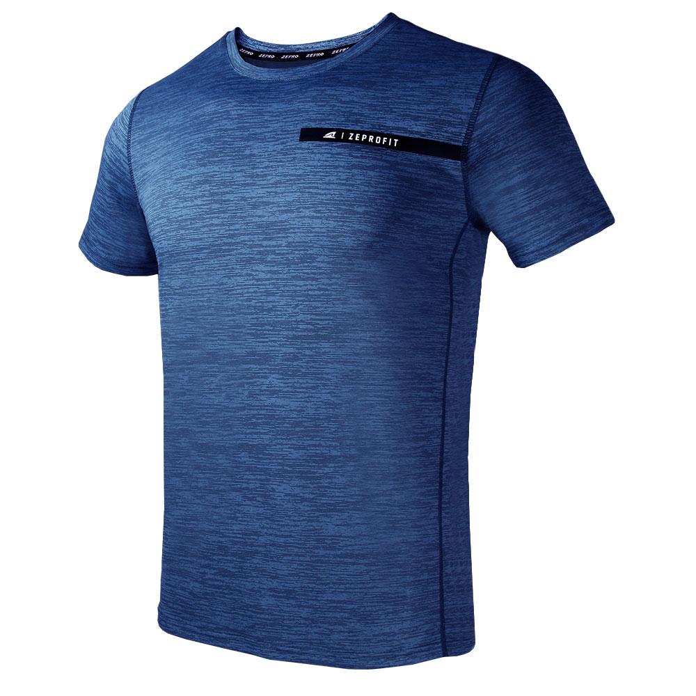 【ZEPRO】男子ZEPROFIT銀離子運動短袖上衣-霧灰藍