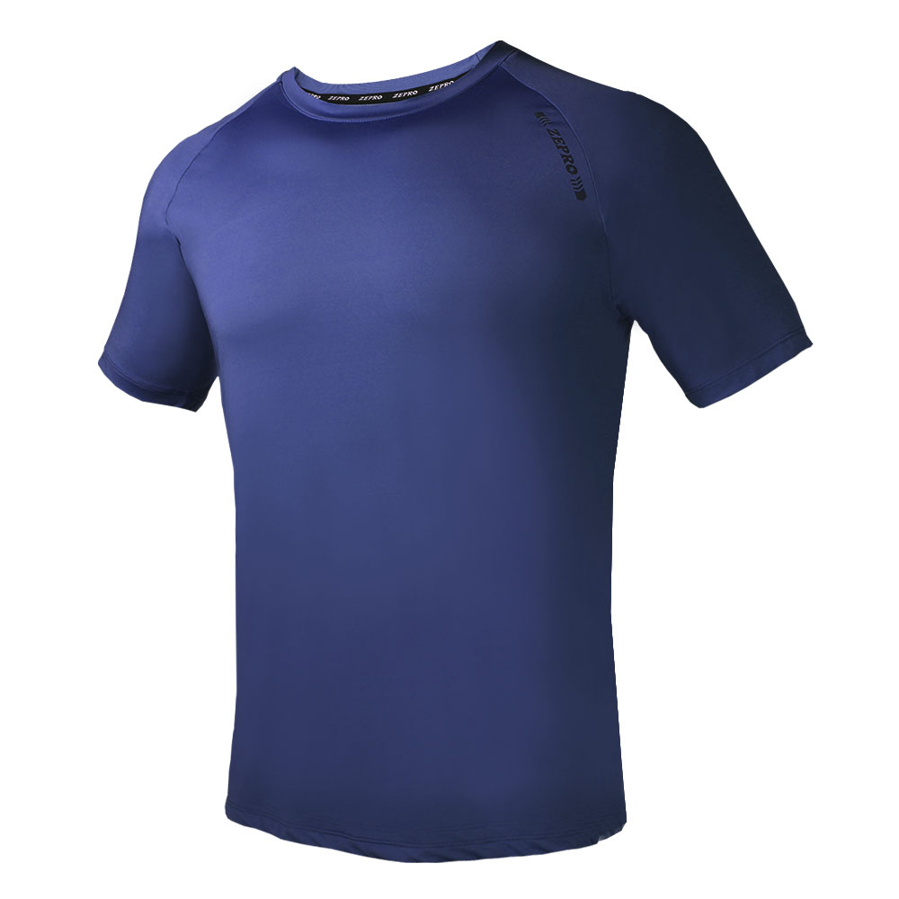 【ZEPRO】男子ZP定番運動短袖上衣-深藍