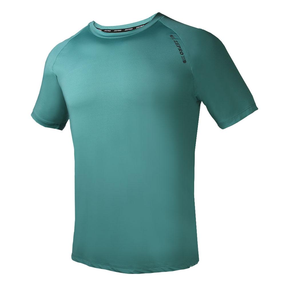 【ZEPRO】男子ZP定番運動短袖上衣-鉻綠