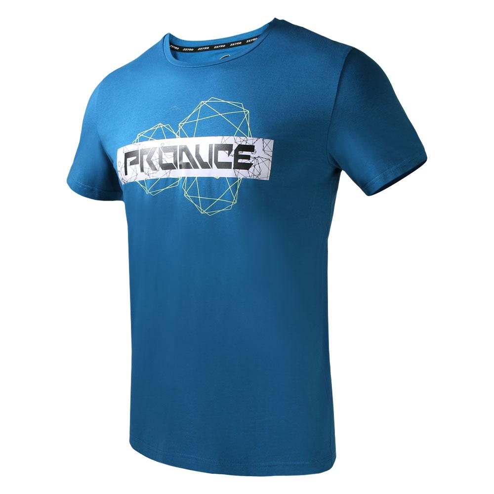 【ZEPRO】男子科技世代運動休閒短袖上衣 -湛藍